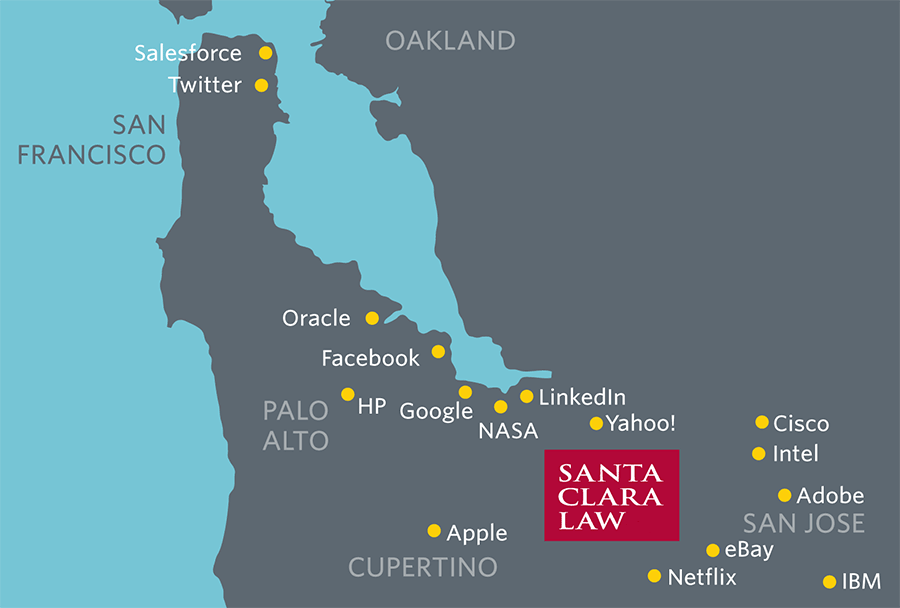 High Tech companies where Santa Clara Alumni work